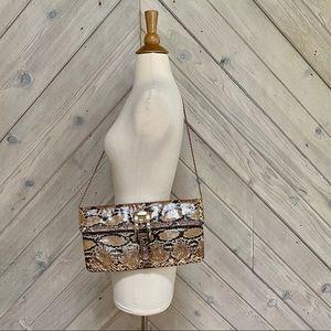 Vintage Varon Real Snakeskin Clutch/Shoulder Bag